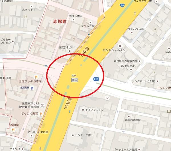 事故現場地図