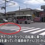 【越谷市】高校教諭の篠原尚子さんがトラックにはねられ死亡