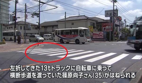 篠原尚子さん事故現場