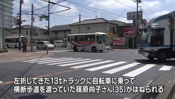 高校教諭の篠原尚子さんの事故